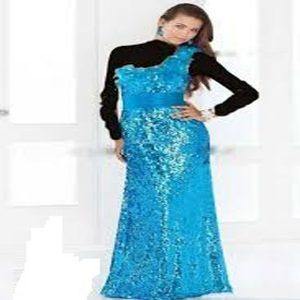 توضيحات ژورنال لباس بانوان لباس مجلسی همراه با امکان پرینت الگو