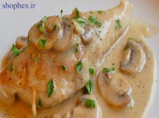 طرز تهیه خورش قارچ با مرغ
